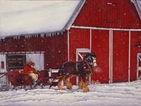 Red Barn Fine Art Print