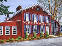 Old Red Mill Inn Fine Art Print