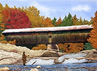 Fishing At The Swiftwater Bridge Fine Art Print