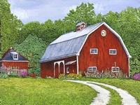 The Hollyhock Farm Fine Art Print