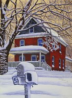 Snow On The Mailbox Fine Art Print