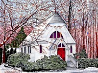 Chapel At Chautauqua Fine Art Print