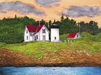 Curtis Island Lighthouse, Camden, Me Fine Art Print