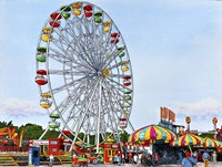 Ferris Wheel Erie County Fair, Hamburg Ny Fine Art Print
