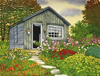 Flower Shed II, Arlington Vt Fine Art Print