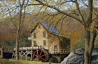 Glade Creek Grist Mill I Beckley, Wv Fine Art Print
