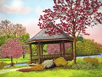 Green Lake Gazebo, Orchard Park, Ny Fine Art Print