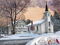 Saint Mary's Church - New Oregon, Ny Fine Art Print