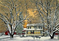 Christmas In The Country Fine Art Print