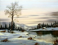 Winter Landscape 25 Fine Art Print