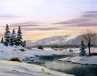 Winter Landscape 31 Fine Art Print
