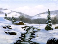 Winter Landscape 32 Fine Art Print
