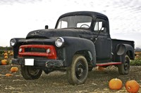 Black Truck In Pumpkin Patch 3 Fine Art Print