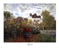 The Artist's Garden in Argenteuil (A Corner of the Garden with Dahlias), c.1873 Fine Art Print