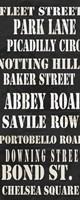 London Streets Framed Print