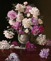 Peonies in a Japanese Vase Fine Art Print