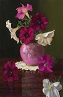 Petunias In Pink Vase Fine Art Print