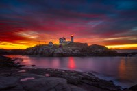 Sunrise over Nubble Light Fine Art Print