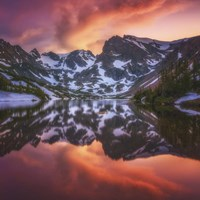 Indian Peaks Reflection Fine Art Print