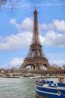 Eiffel Tower and Seine Boat Paris Fine Art Print