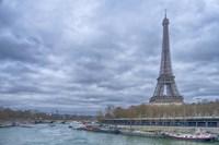 Eiffel Tower and Seine in Paris Fine Art Print