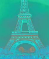 Eiffel Tower in Turquoise Fine Art Print