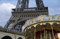 Eiffel Tower with Paris Carousel Fine Art Print