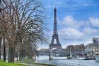 Eiffel Tower, Ile des Cygnes and Seine Paris Fine Art Print