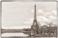 Eiffel Tower, Seine and Pont Rouelle Fine Art Print