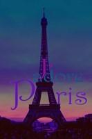 J'adore Paris - Eiffel Tower Fine Art Print