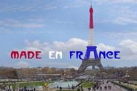 Made en France with Eiffel Tower Fine Art Print