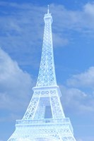 White Eiffel Tower Fine Art Print