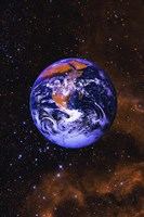 Bright Blue Earth Fine Art Print