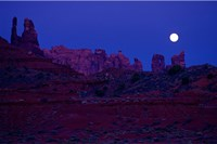Moon Over the Desert Fine Art Print