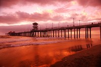Pier in Red Fine Art Print