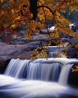 Waterfall Over the Rocks in Fall Fine Art Print