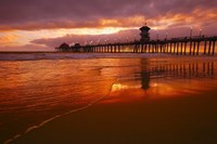 Pier at Sunset Fine Art Print