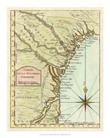 Petite Map of Georgia Fine Art Print