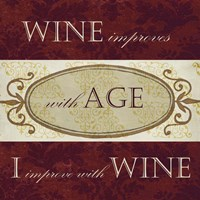 Wine Phrases III Fine Art Print