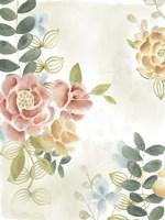 Soft Flower Collection I Framed Print
