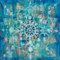 Mandala in Blue I Fine Art Print