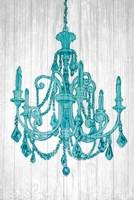 Luxurious Lights III Turquoise Fine Art Print