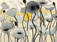 Snow Day Gray Flower Fine Art Print