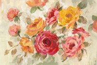 Brushy Roses Fine Art Print