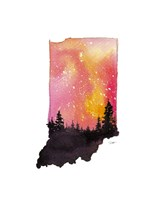 Indiana State Watercolor Fine Art Print