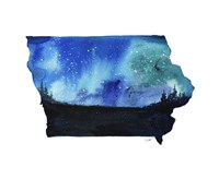 Iowa State Watercolor Fine Art Print