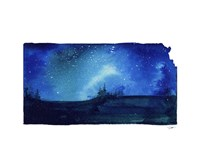 Kansas State Watercolor Fine Art Print