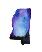 Mississippi State Watercolor Fine Art Print