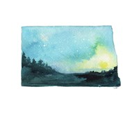 North Dakota State Watercolor Fine Art Print