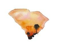South Carolina State Watercolor Fine Art Print